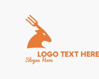 Deer - Deer Fork logo design