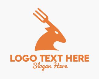 Fork - Deer Fork logo design