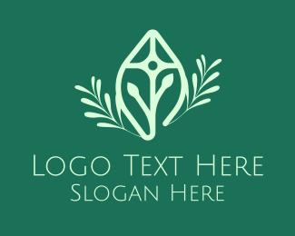 Christian - Green Religious Christian Cross logo design