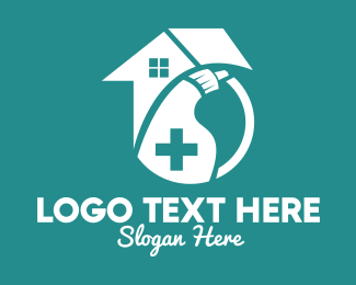 Disinfection - Medical Home Disinfectant  logo design