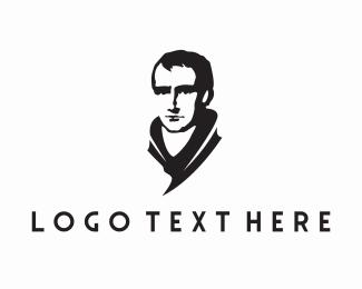 Bachelor - Man Statue logo design