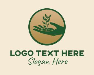 Crops - Plant Seedling  logo design