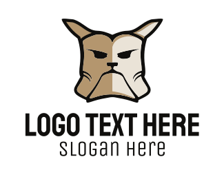 Doggy - Angry Bulldog Dog logo design