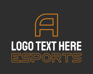 Orange Esports Letter Text Logo