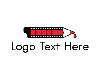 Cinema - Movie Screenwriter logo design