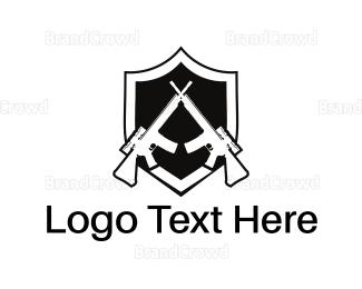 Fighting - Weapon Shield logo design