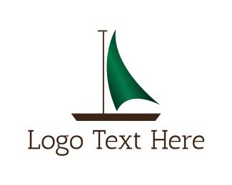 Canoe - Green Boat logo design