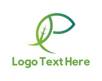 Nutrition - Green E Leaf logo design