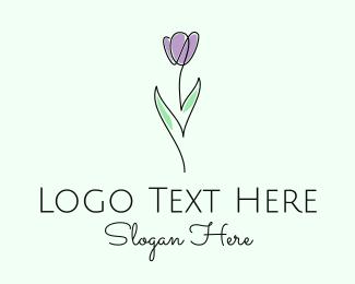 Boquet - Modern Flower Line Art logo design