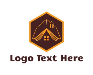 Library - Book House logo design