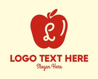 Stall - Red Supermarket Apple Lettermark logo design