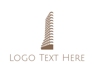 North America - Flatiron Building logo design