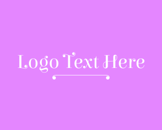 Cute Curly Wordmark Logo