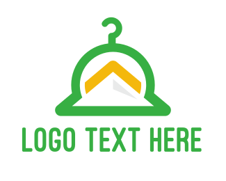 Washing Machine - Green Hanger Mountain logo design