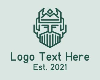 Viking - Old Viking King logo design