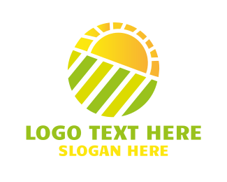 Farm - Sun Field logo design