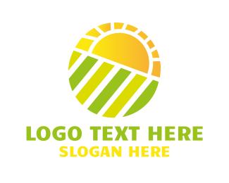 Harvest - Sun Field logo design