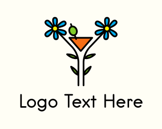 Brunch - Organic Cocktail Flower Drink logo design