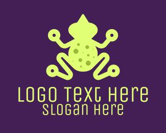Digital Printing - Digital Green Frog logo design