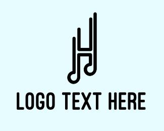 Music Festival - Musical Letter H logo design