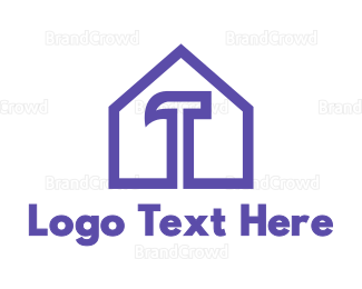 Demolish - Purple Hammer House logo design
