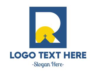 Christian - Christian Letter R Crucifix logo design