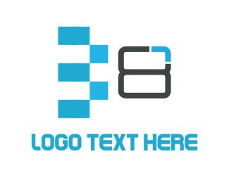 Eight - Eight Bits logo design