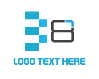 Byte - Eight Bits logo design