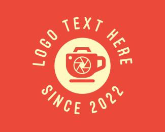 Cup And Saucer - Cafe Camera logo design