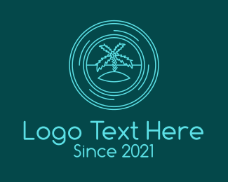 Boracay - Island Travel Badge logo design