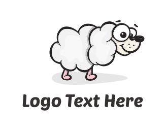 Cartoonish - Sheep Dog Cloud logo design