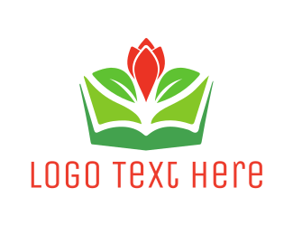 Dutch - Flower Book logo design