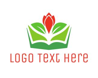 Tulip - Flower Book logo design