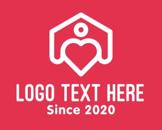 Simple - Simple Heart House logo design