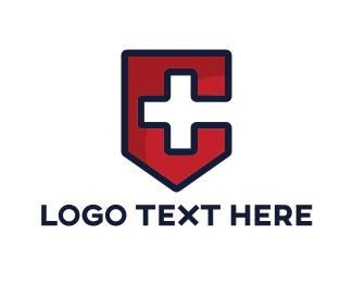 Armor - Medical Letter C logo design