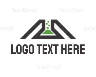 Beaker - Lab Tube logo design