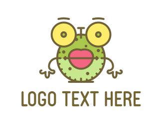 Cartoon - Clock Cartoon logo design