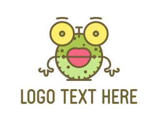 Comic - Clock Cartoon logo design