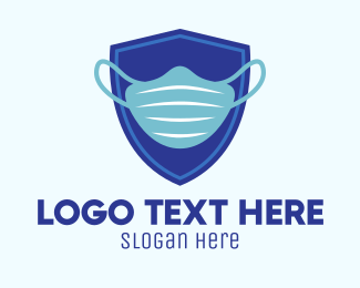 Surgical Mask - Blue Surgical Mask logo design