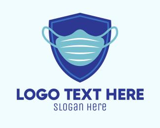 Defend - Blue Surgical Mask logo design