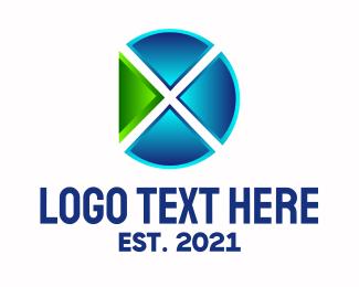 Digital Media - Digital Media Letter X logo design