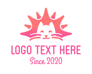 Kitten - Pink Cat Kitten logo design