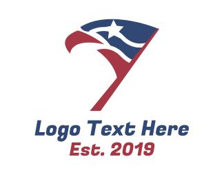 Squadron - Eagle Head Flag logo design