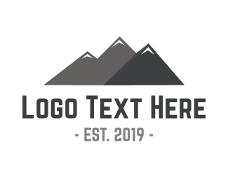 New Zealand - Mountain Peaks logo design