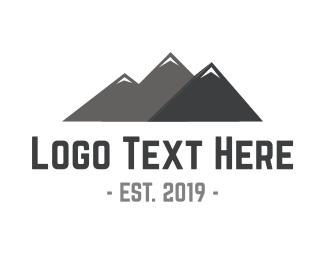 Ski - Mountain Peaks logo design