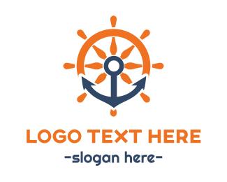 Navigation - Anchor & Wheel logo design