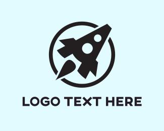 Space - Rocket Letter A logo design