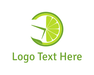 Thirst - Lemon Clock logo design