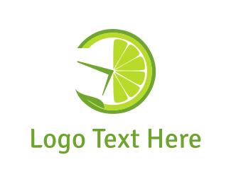 Thirst - Lemon Clock logo design