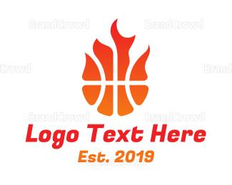 Meteor - Burning Basketball logo design